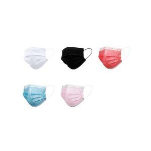 masque jetable hygiénique blanc noir rouge rose bleu